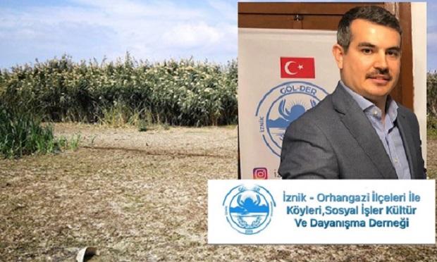 """Göl-Der'den İznik Gölü Açıklaması """"Fabrikalar Gölden Su Alımını Durdurmalı"""""""