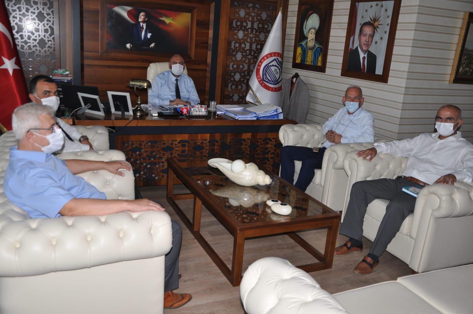 Buski Şube Müdürü Rafi Demirel Başkan Aydın'ı Ziyaret Etti