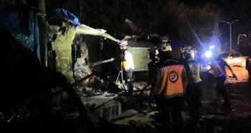 İdlib'de akaryakıt deposunda patlama