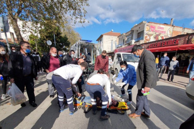 Traktör İle Motosiklet Çarpıştı: 1 Yaralı