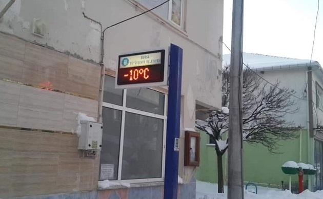 Orhangazi'de Don Etkili Oldu Ortaköy -10 Dereceyi Gördü!