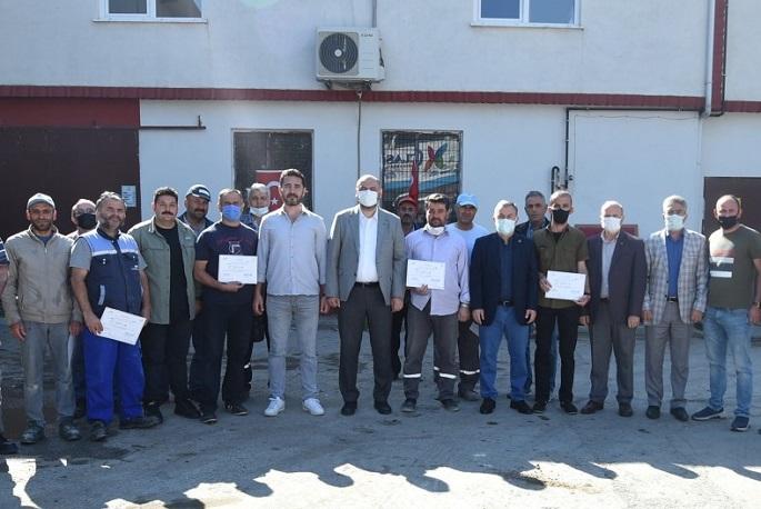 Orhangazi Belediyesi Arama Kurtarma Ekibi Belgelerini Aldı