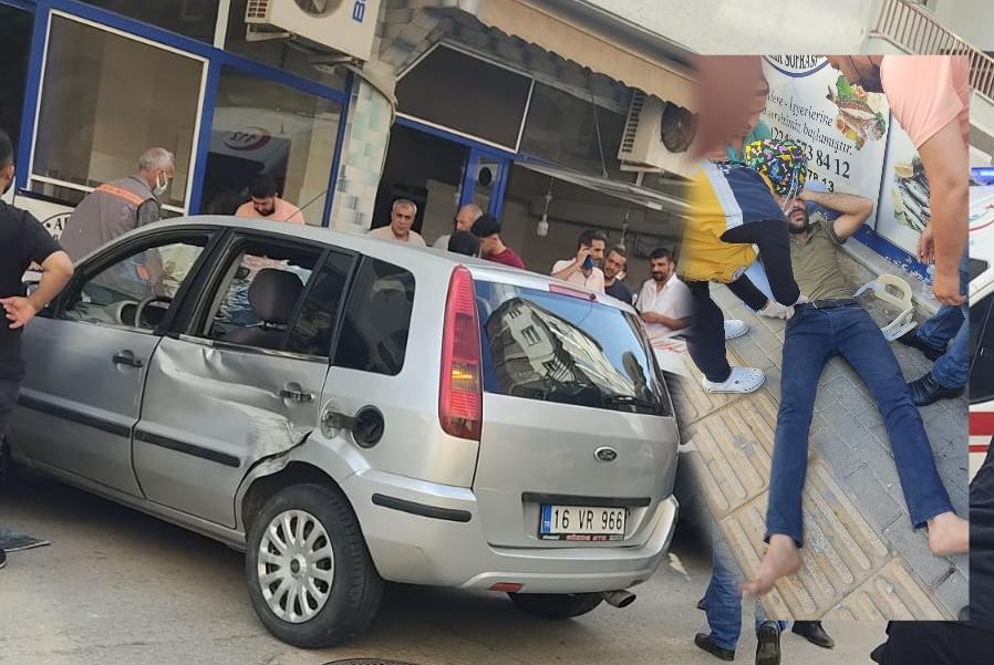 Kepçe Otomobile Çarptı 1 Yaralı